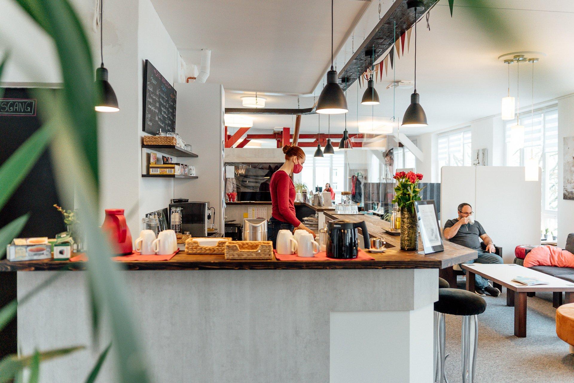 das gemütliche Café Analog in der CoWorkBude