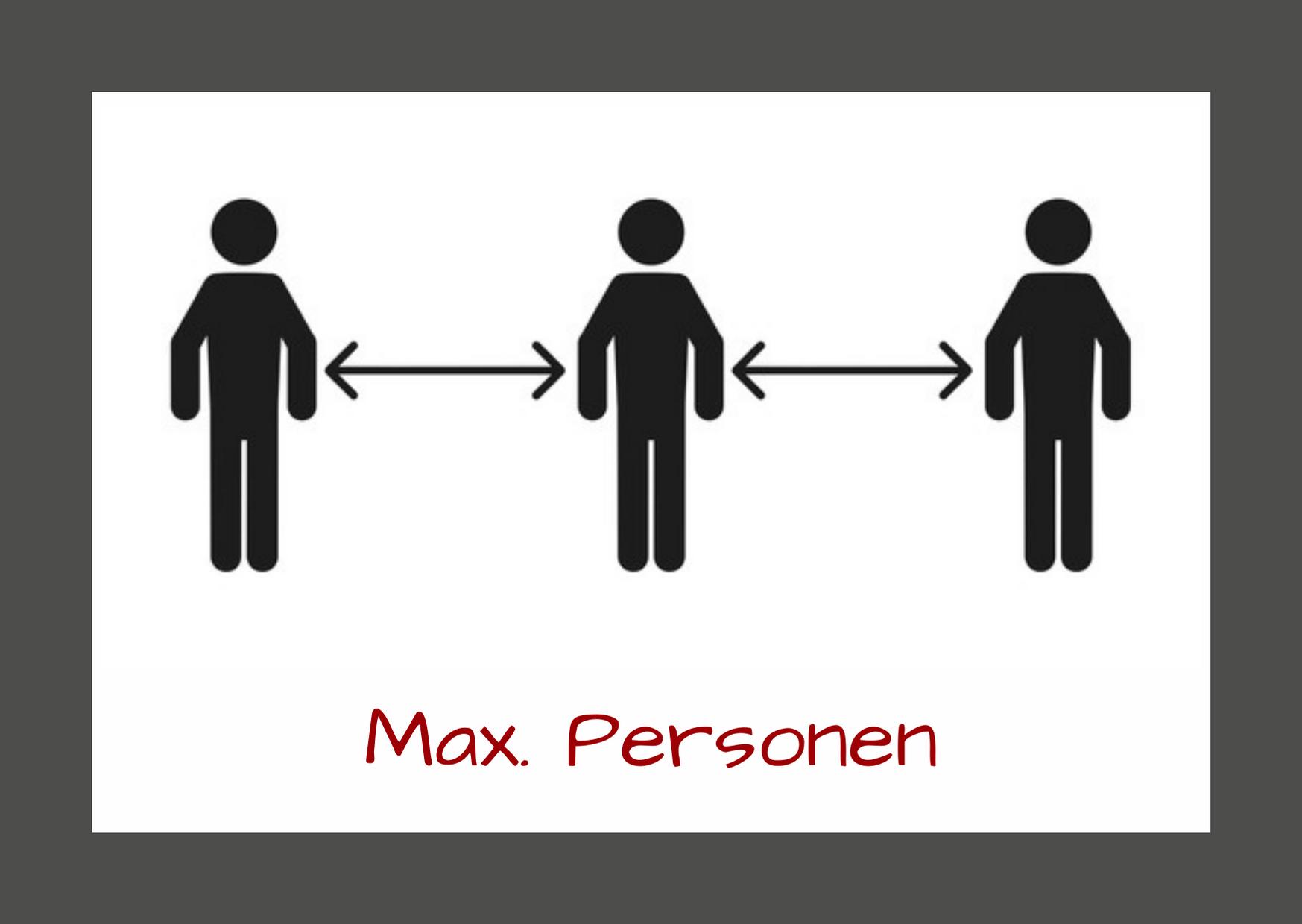 Max. Personen - Corona-Sicherheitsmaßnahmen