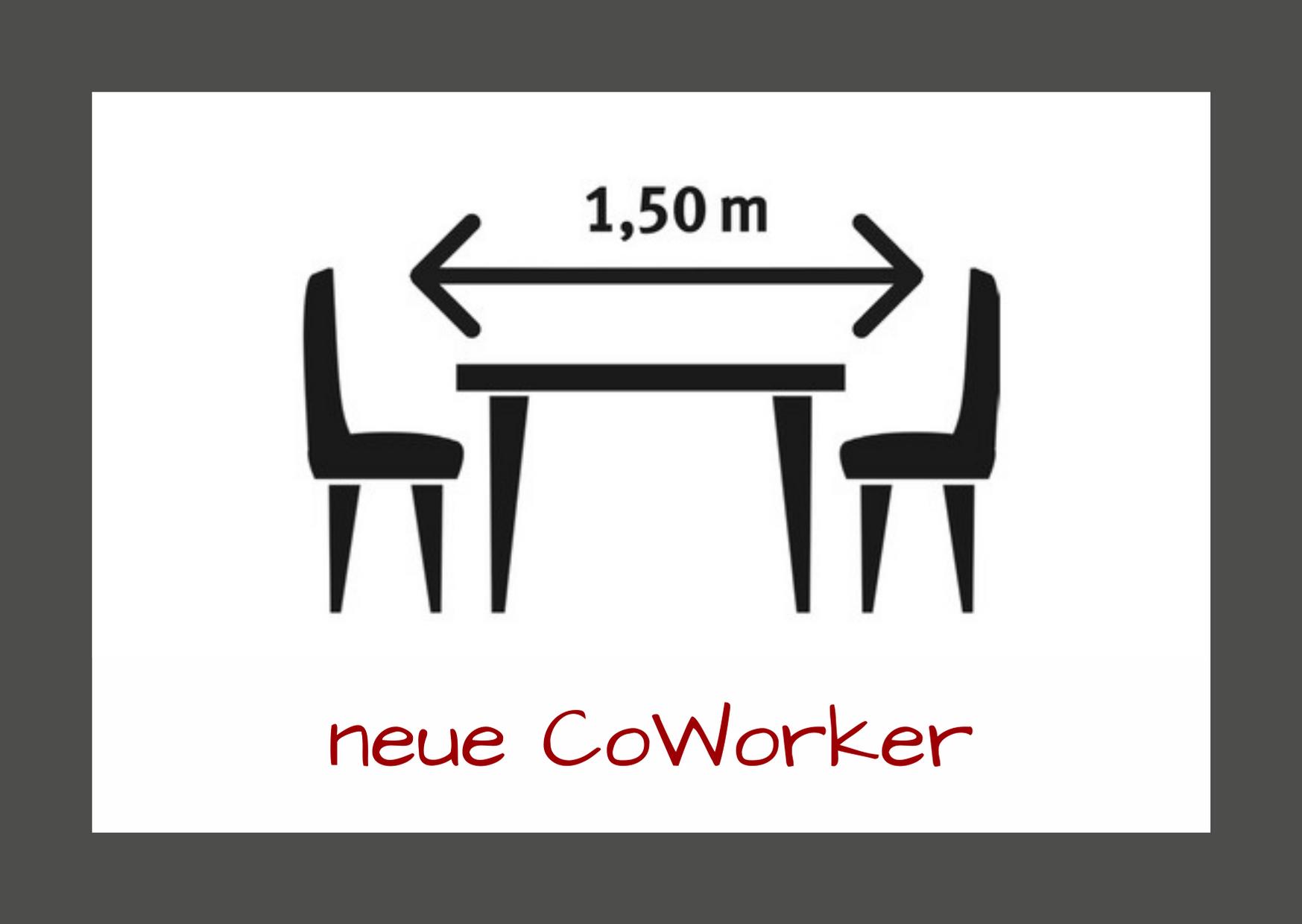 Neue CoWorker - Corona-Sicherheitsmaßnahmen