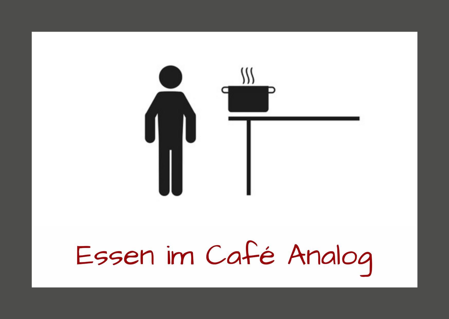 Essen im Café Analog - Corona-Sicherheitsmaßnahmen