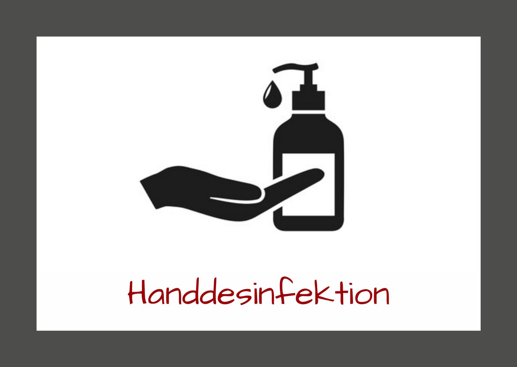 Handdesinfektion - Corona-Sicherheitsmaßnahmen